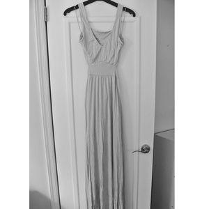 Tobi Light Grey Cutout Maxi Dress